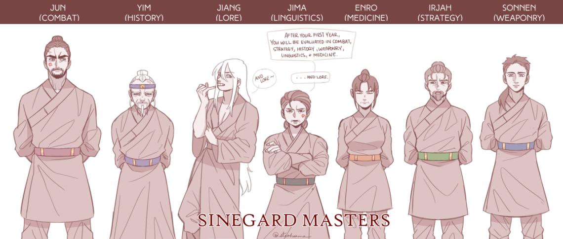 Szinegard - Mesterek és Zsin