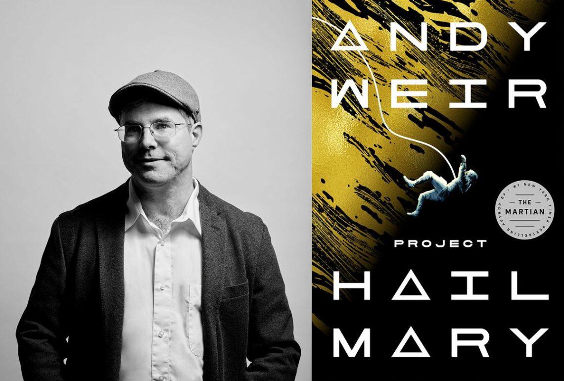 Az író és a Hail Mary küldetés angol borítója